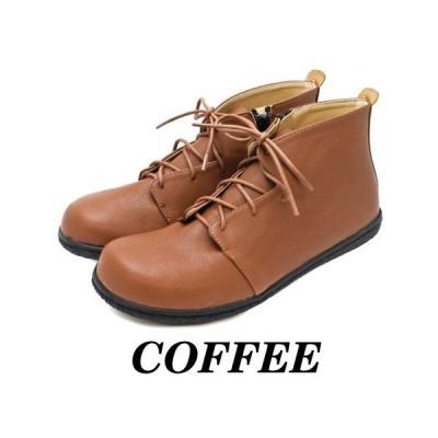シューレース コンフォート ショート ブーツ (ブラックソール) 3色 #CA158
