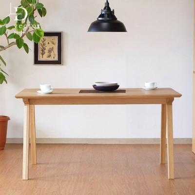 ダイニングテーブル 4人用 北欧 幅135cm オーク 無垢