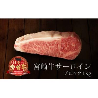 <宮崎牛>サーロインブロック 1kg※90日以内出荷【E38】