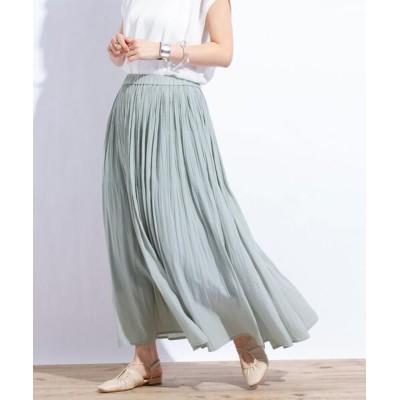 coen / マットサテンロングプリーツスカート WOMEN スカート > スカート