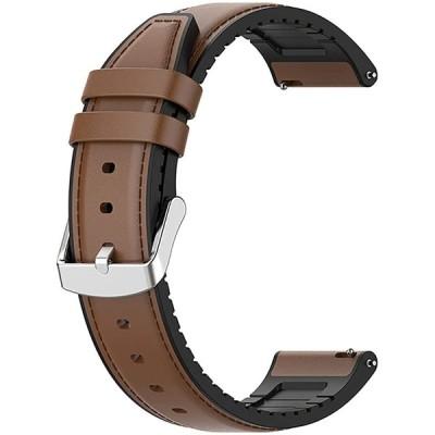 SHEAWA Ticwatch Pro3用バンド ベルト 交換バンド Ticwatch Pro S対応 合成革+シリコン PUレザー スポーツバンド