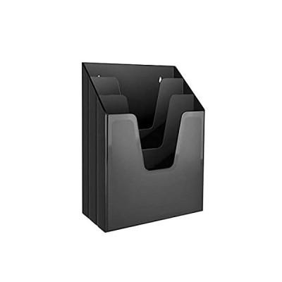 Acrimet Vertical File Folder Organiser (Black Colour)