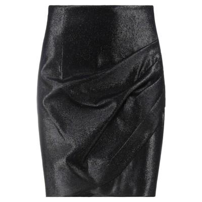 スペース SPACE SIMONA CORSELLINI ひざ丈スカート ブラック 42 コットン 82% / 金属繊維 15% / ポリウレタン