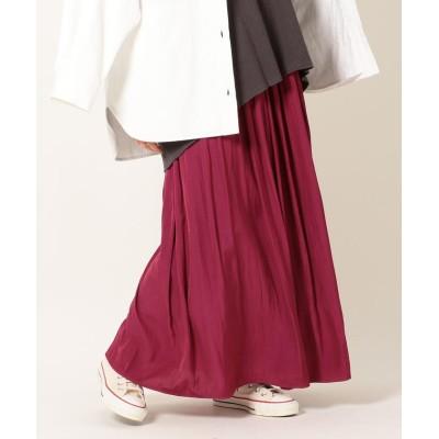 【シップス】 SHIPS any:パウダーサテンギャザースカート レディース ピンク ONESIZE SHIPS