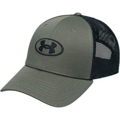 アンダーアーマー メンズ 帽子 アクセサリー Blitzing Trucker Hat Pitch Gray/Black/Black