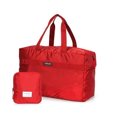 TRAVELPLUS 折り畳み おりたたみ エコバッグ トートバッグ 軽量 お出かけ 旅行 便利グッズ (レッド) TP750848