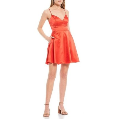 ビーダーリン レディース ワンピース トップス Spaghetti Strap V-Neck Charmeuse Dress