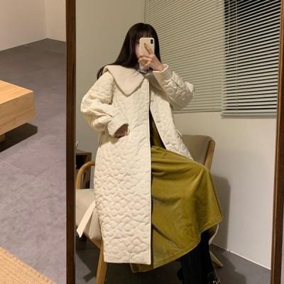 中綿コート レディース ダウンコート おしゃれ カジュアル ロング丈 厚手 冬服 中綿ジャケット コート アウター 着痩せ 防寒着 防風 暖かい