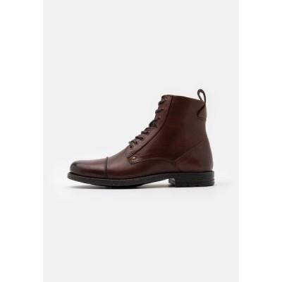 ピアワン ブーツ&レインブーツ メンズ シューズ Lace-up ankle boots - brown