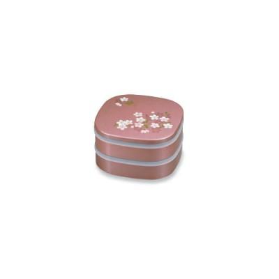 宇野千代 シール付 6.5 くつわオードブル( 十字仕切付) あけぼの桜 ピンク [正和/お弁当箱/ランチボックス]