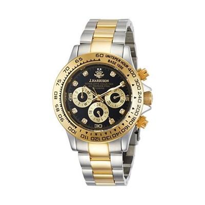 [ジェ・ハリソン] 腕時計 JH-014DG メンズ 正規輸入品 シルバー
