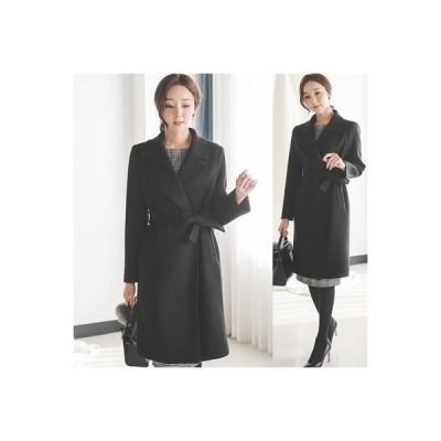 コート レディース ロングコート きれいめ 通勤 30代 40代 50代 フォーマル ファッション 女性 高級感 上品 秋 黒 黒 茶色