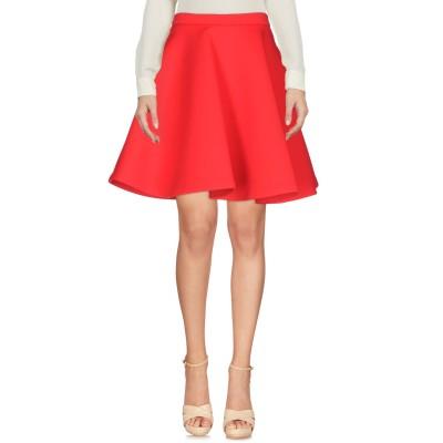エムエスジーエム MSGM ひざ丈スカート レッド 42 ナイロン 61% / ポリウレタン 23% / ポリウレタン 16% ひざ丈スカート