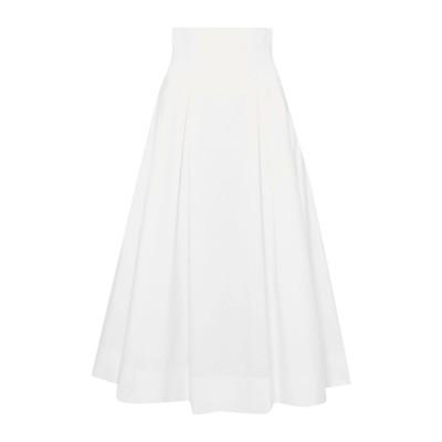 GABRIELA HEARST ロングスカート ホワイト 38 コットン 100% ロングスカート