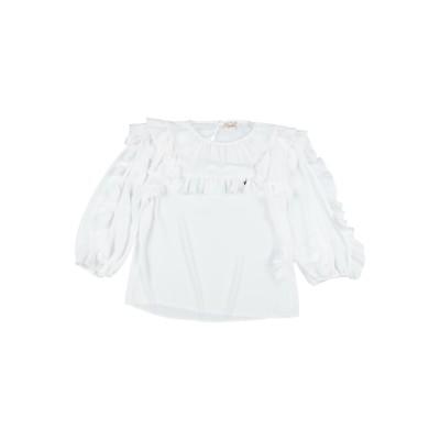 ELISABETTA FRANCHI ブラウス ホワイト 8 ポリエステル 100% ブラウス