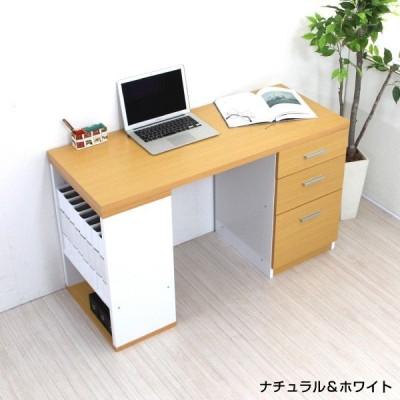 学習机 ツインデスク用デスク単体 ナチュラル/ホワイト