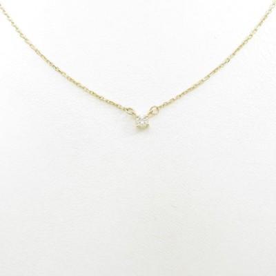 K18YG ソリティア ダイヤモンドネックレス