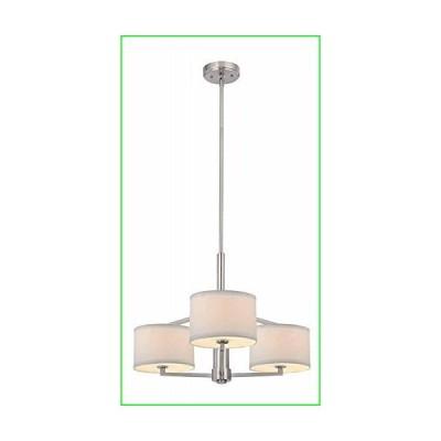 Dolan Designs 1887-09 3Lt Satin Nickel Monaco 3 Light Chandelier, Pwt, Nckl, B/S, Slvr