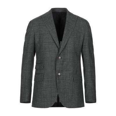 イレブンティ ELEVENTY テーラードジャケット ダークグリーン 46 ウール 71% / シルク 15% / リネン 14% テーラードジャケ
