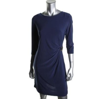 ドレス ワンピース NY Collection NY コレクション 5901 レディース ブルー Matte Jersey Wear to Work ドレス Petites PS BHFO