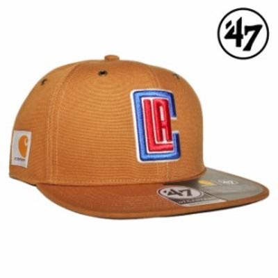 47ブランド カーハート コラボ スナップバックキャップ 帽子 メンズ レディース 47BRAND CARHARTT NBA ロサンゼルス クリッパーズ フリー