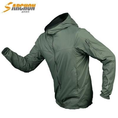 マウンテンパーカー ジャケット ミリタリー メンズ フード付き アウター ブルゾン UVカット 薄手 アウトドア アウトドア ミリタリー