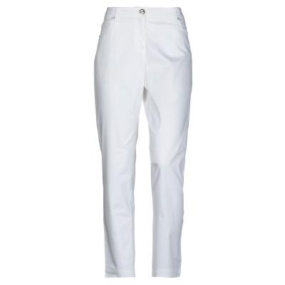 MARIA GRAZIA SEVERI パンツ ホワイト 48 コットン 97% / ポリウレタン 3% パンツ