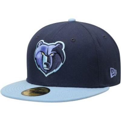 ニューエラ メンズ 帽子 アクセサリー Memphis Grizzlies New Era Official Team Color 2Tone 59FIFTY Fitted Hat Navy/Light Blue