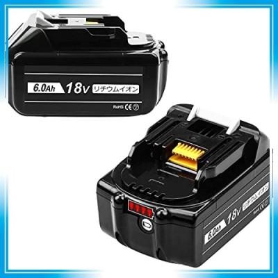 Powayup 互換 マキタ 18v バッテリー マキタバッテリー 18v bl1860b 6000mAh 電動工具用バッテリー リチウムイオン電池
