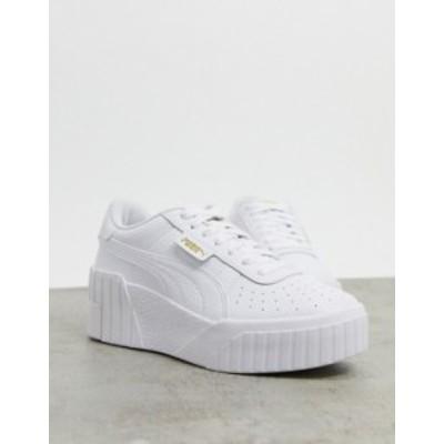 プーマ レディース スニーカー シューズ Puma Cali Wedge sneakers in white White