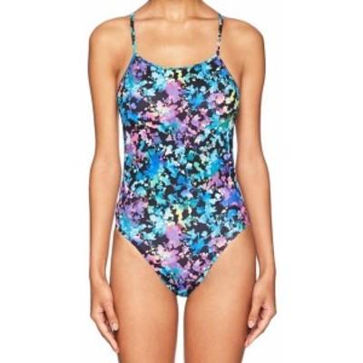 speedo スピード スポーツ用品 スイミング Speedo NEW Blue Womens Size 14 Tie-Back Printed One-Piece Swimsuit
