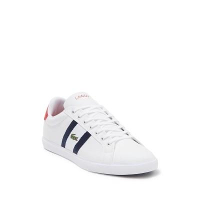 ラコステ メンズ スニーカー シューズ Grand Vulc 120 Sneaker 407 WHT/NVY/RED