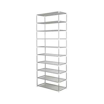 シューズラック10段 / 2 x 5段 靴棚 30足靴収納可 軽量 収納 省スペース 玄関収納 組立簡単 (グレー) (グレー)