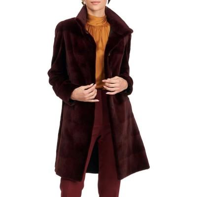 ゴルスキ レディース コート アウター Reversible Sheared Mink Fur & Silk Stroller Coat