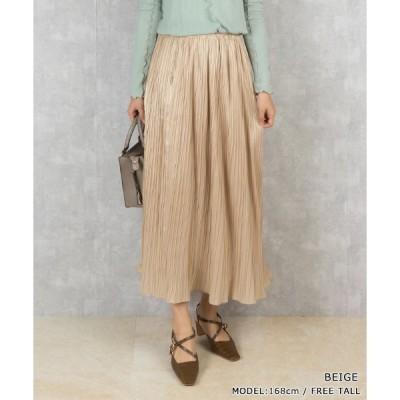 スカート 【選べる丈感】ナロープリーツスカート