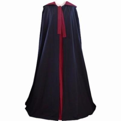 高品質 高級コスプレ衣装 ハロウィン マント ケープ Medieval Tudor Both sides Wear Cloak With Hood