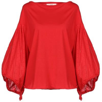 SUOLI T シャツ レッド 44 コットン 100% T シャツ