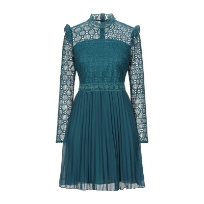 VANESSA SCOTT ミニワンピース&ドレス ディープジェード S ポリエステル 100% ミニワンピース&ドレス