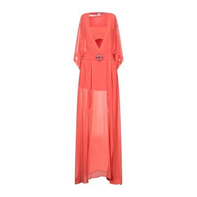 GIL SANTUCCI ロングワンピース&ドレス オレンジ 46 ポリエステル 97% / ポリウレタン 3% ロングワンピース&ドレス