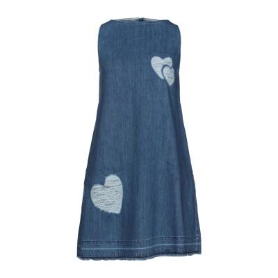 ラブ モスキーノ LOVE MOSCHINO ミニワンピース&ドレス ブルー 40 コットン 100% ミニワンピース&ドレス