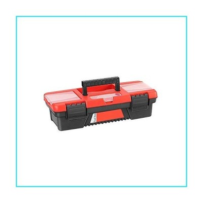 CALIDAKA Tool Boxes Toolbox Storage Case with Removable Tray and Dual Lock Secured General Household Hand Tool Box with Handle【並行輸