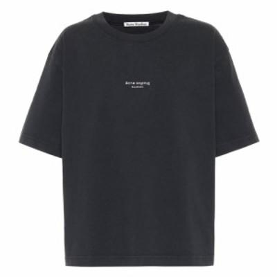 アクネ ストゥディオズ Acne Studios レディース Tシャツ トップス Reverse-logo cotton T-shirt Black