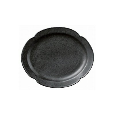 デプレブラックオーバルプレートL 01803-080
