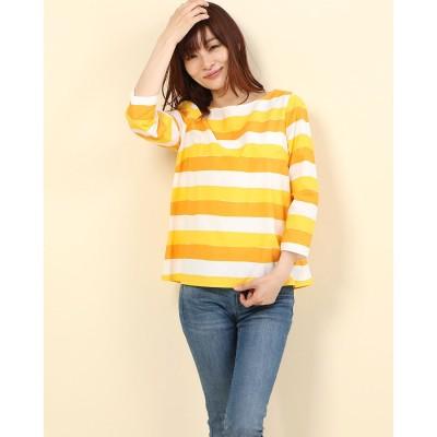 リネーム Rename コットンプルオーバーシャツ (イエロー×オレンジ)