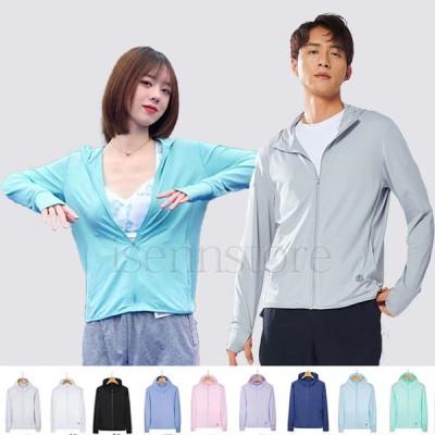 ラッシュガード メンズ レディース パーカー UVカット 長袖 ジップアップ 薄手 冷感素材 大きいサイズ フード付き 日焼け対策 通気 アウトドア 男女兼用