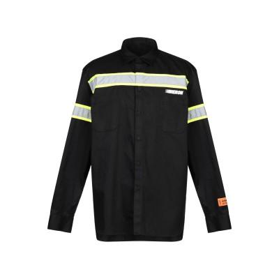 HERON PRESTON シャツ ブラック XS ポリエステル 65% / コットン 35% / ポリウレタン シャツ