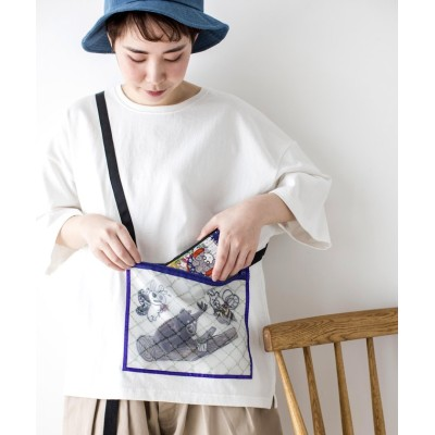 【スカラー】 虫かごアップリケTシャツ レディース オフホワイト M ScoLar