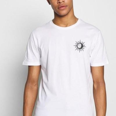 ピアワン メンズ ファッション SUN MOON TEE - Print T-shirt - white