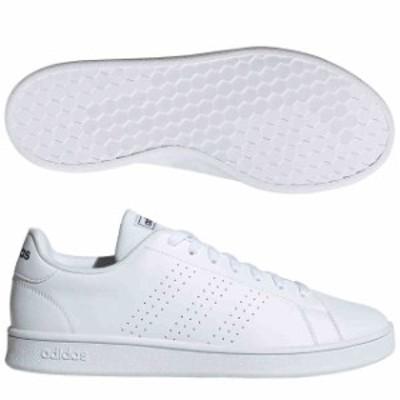 アディダス ADVANCOURT BASE ランニングホワイト×ランニングホワイト×トレースブルー  adidas EE7691