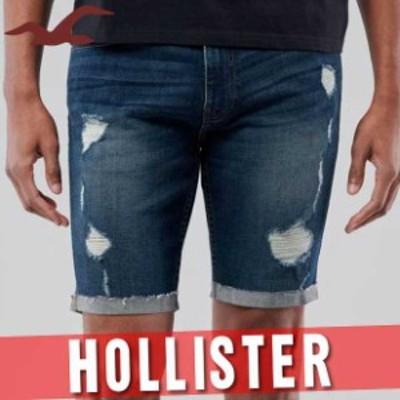 ホリスター アバクロ ハーフパンツ ショート 短パン メンズ デニム ジーンズ ジーパン エピック フレックス スキニー 9インチ 半ズボン
